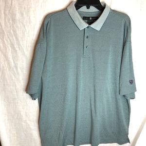 Nike Tiger Woods Golf Polo Shirt Size XL Mens Blue